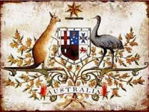 poster burung emu baik hewan sebagai lambang dari berbagai negara animals as the symbol of