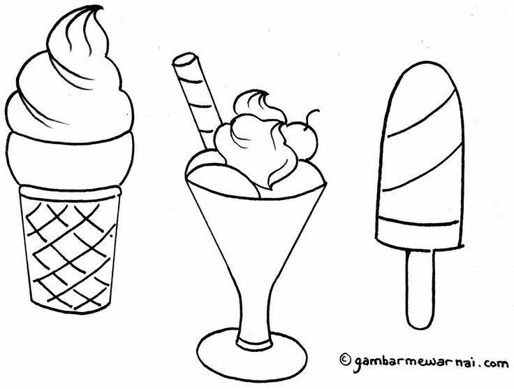 gambar mewarna ayam hebat gambar es krim buat mewarnai ice pinterest education projects