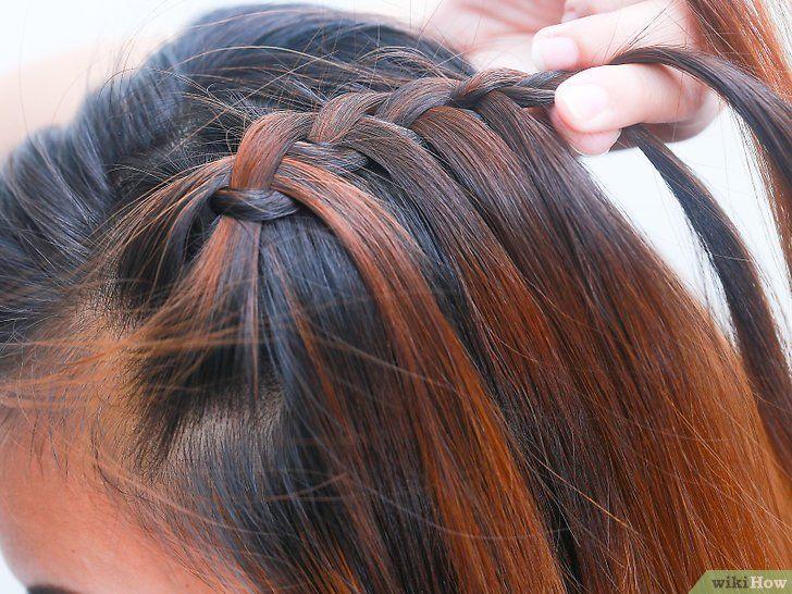 gambar berjudul braid short hair step 13