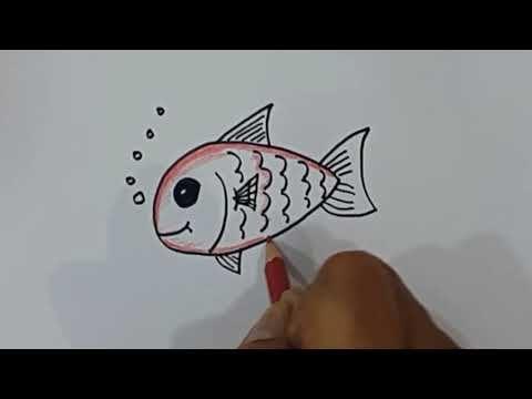 Gambar Mewarna Ikan Tenggiri Terhebat Belajar Cara Menggambar Ikan Mas Dengan Mudah Youtube