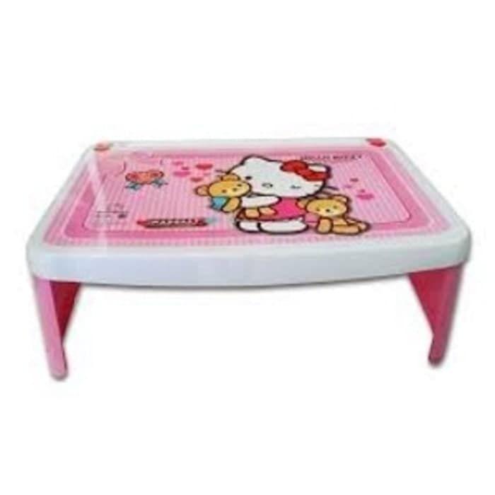 harga khusus meja lipat belajar anak lesehan karakter hello kitty pin