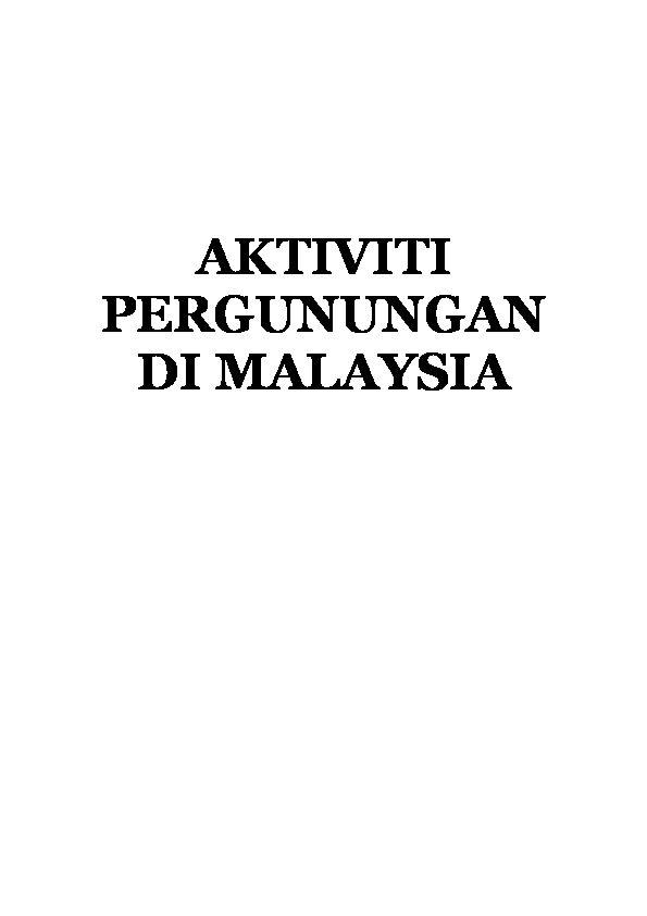 Gambar Mewarna Kelawar Tidak Berekor Malaya Terhebat Pdf Aktiviti Pergunungan Di Malaysia Azizul Azman Academia Edu