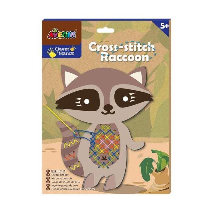 Gambar Mewarna Rakun Bermanfaat Cek Harga Avenir 1444 Cross Stitch Raccoon Mainan Kesenian Dan