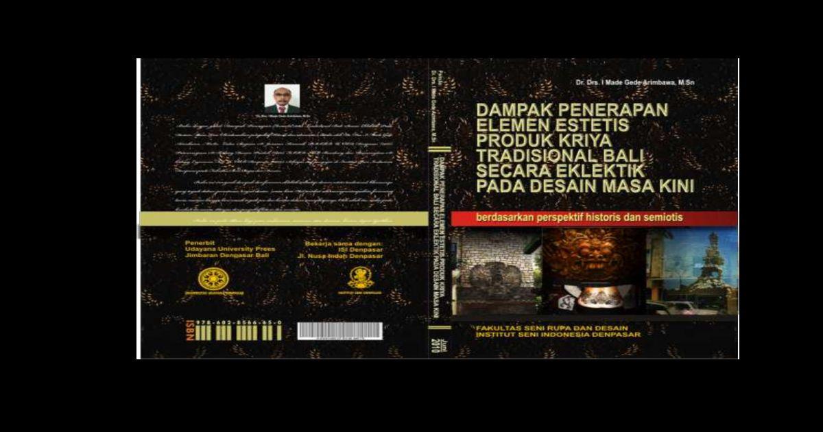 Gambar Mewarna Ular Tedung Hitam Baik Dampak Penerapan Elemen Estetis Produk Kriya Tradisonal Bali Secara