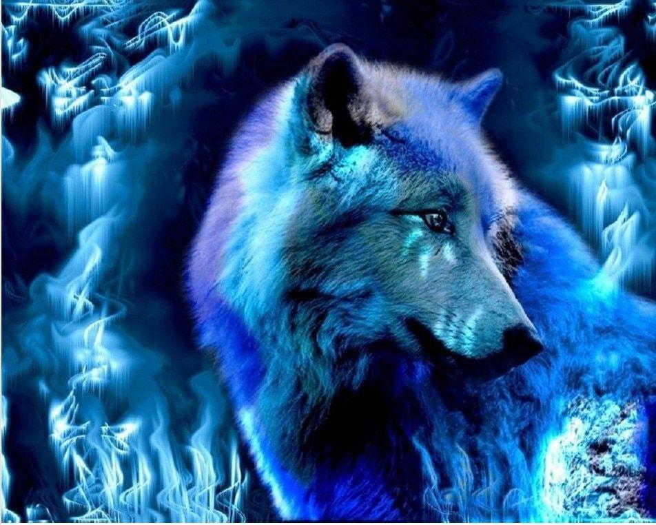 biru api serigala diy berlian lukisan set pekerjaan tangan bordir berlian resinstone persegi berlian lukisan set diy gambar e294 di berlian lukisan cross