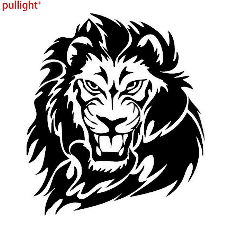 Gambar Singa Terhebat Perkasa Singa Pemburu Liar Hewan Stiker Mobil Vinyl Car Tubuh Decal
