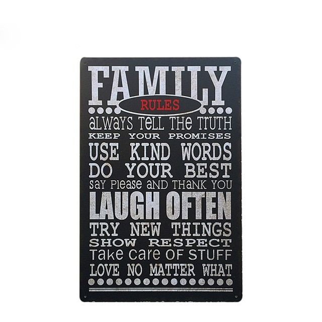 hot family aturan gallery poster logam tin sign coffee pub plak dinding cafe decor piring antik jpg 640x640 jpg