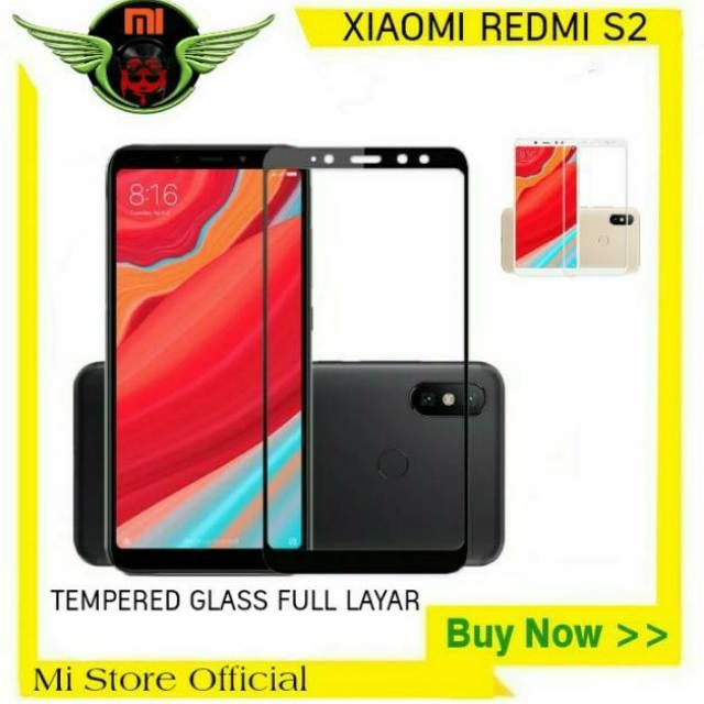 premium tempered glass xiaomi redmi s2 anti gores kaca warna full cover shopee indonesia