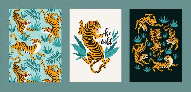 Poster Harimau Kumbang Hebat Tiger Vectors Photos and Psd Files Free Download