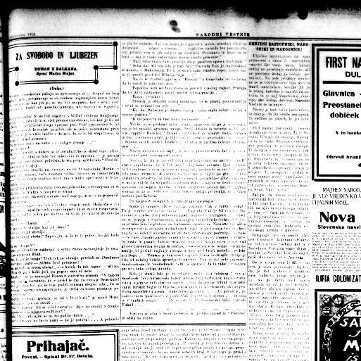 Poster Napuh Penting Narodni Vestnik National Herald Duluth Minn 1912