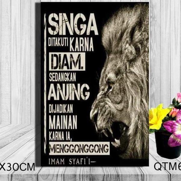 jual terbaru hiasan dinding poster kayu gambar kata kata quotes singa 2 di lapak riant mart1 irianthoha34
