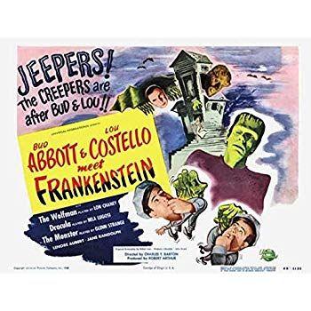 bud abbott lou costello meet frankenstein poster 11 x