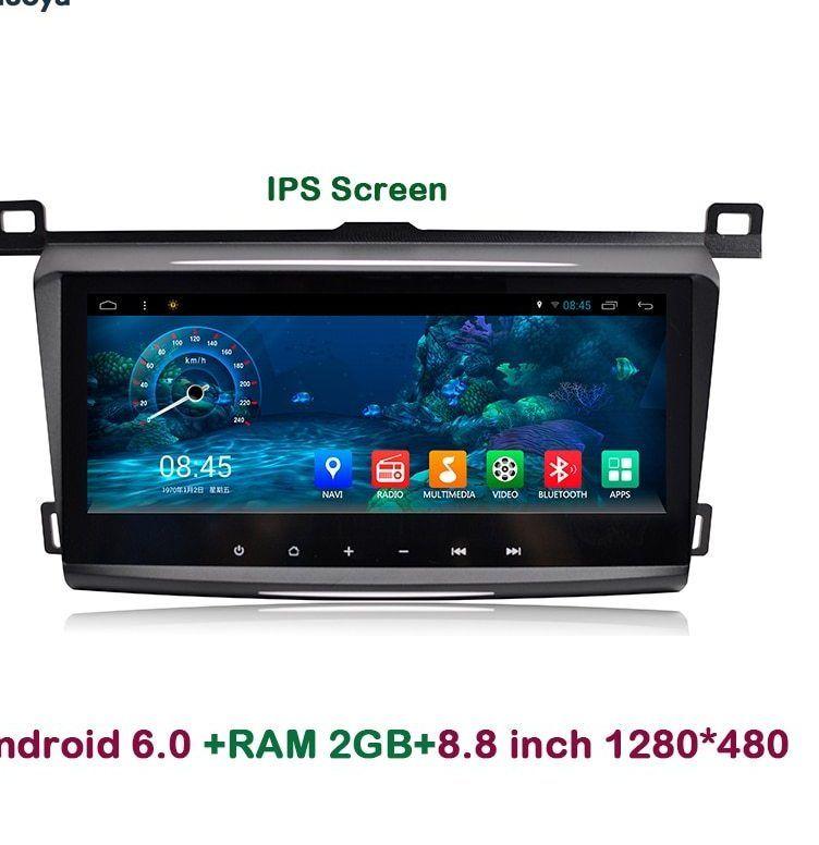 aoluoya 8 8 inch ips 2 gb ram android 6 0 audio mobil dvd gps navigasi untuk toyota rav4 rav 4 2014 2015 2016 radio multimedia wifi