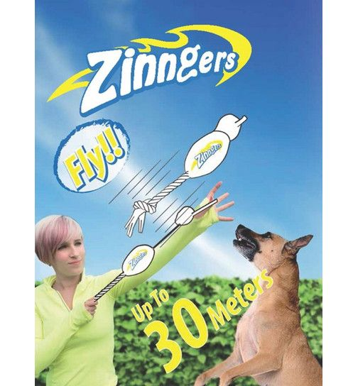 Poster Walabi Terhebat Zinngers Flying Gator Dog toy with Built In Slingshot 4 99