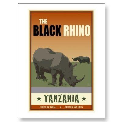 tanzania postcard zazzle com invites paper goods vintage travel posters tanzania art deco posters